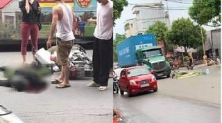 Danh tính chiến sĩ công an tử vong sau va chạm với xe container tại Hà Nội