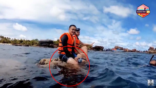 Quang Vinh - Phạm Quỳnh Anh bị lên án vì ngồi lên san hô ở Phú Quốc