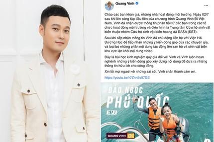 Quang Vinh lên tiếng xin lỗi về hành động ngồi lên san hô ở Phú Quốc