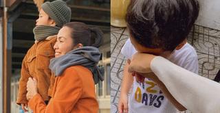 Tan chảy trước khoảnh khắc quý tử nhà Hà Tăng sụt sùi khóc khi mẹ đi làm