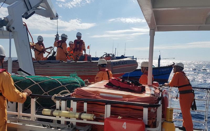 Cứu kịp thời thuyền viên bị viêm ruột thừa cấp nguy kịch trên biển