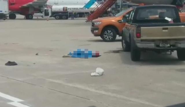Xe bán tải tông nữ nhân viên vệ sinh của sân bay Nội Bài tử vong