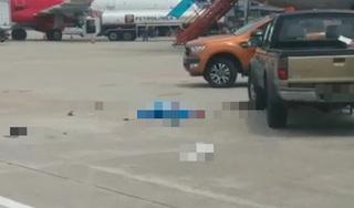 Hé lộ nguyên nhân xe bán tải tông chết nữ nhân viên vệ sinh sân bay Nội Bài
