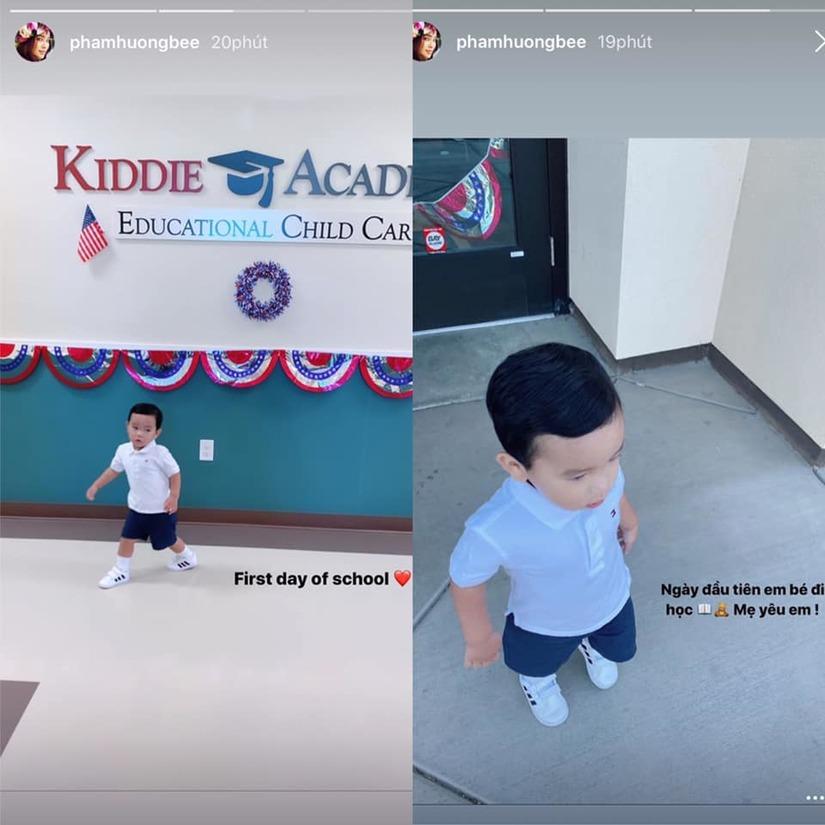 Phạm Hương hạnh phúc khoe hình ảnh con trai Maximus ăn diện chỉn chu ngày đầu đi học