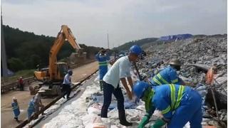 Diễn tập phòng chống thiên tai năm 2020 tại Khu Liên hiệp Xử lý chất thải Nam Sơn
