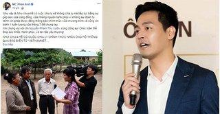 MC Phan Anh ủng hộ chương trình 'Như chưa hề có cuộc chia ly'