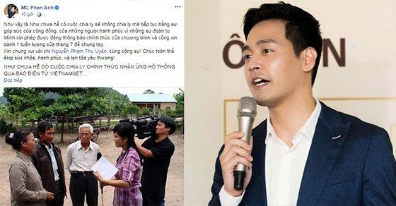 MC Phan Anh ủng hộ cho Như chưa hề có cuộc chia ly