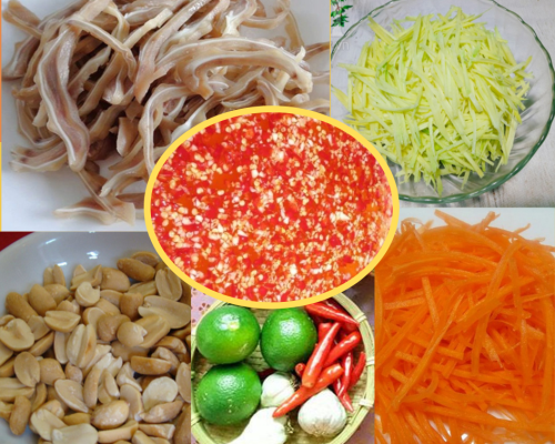 Mê mẩn món tai heo trộn sốt ớt chua ngọt, giòn ngon, đủ sắc màu hấp dẫn