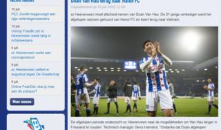 CLB SC Heerenveen tiết lộ lý do chia tay Đoàn Văn Hậu