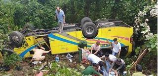 Xe khách lao xuống vực ở Kon Tum khiến 5 người tử vong