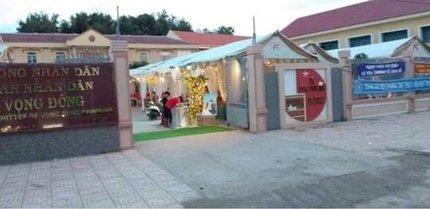 Lãnh đạo nói gì về việc 'cho cán bộ mượn chỗ tổ chức đám cưới linh đình'?