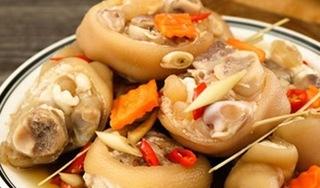 Móng giò ngâm mắm kiểu Thái, đủ vị chua cay, ngon hết sảy