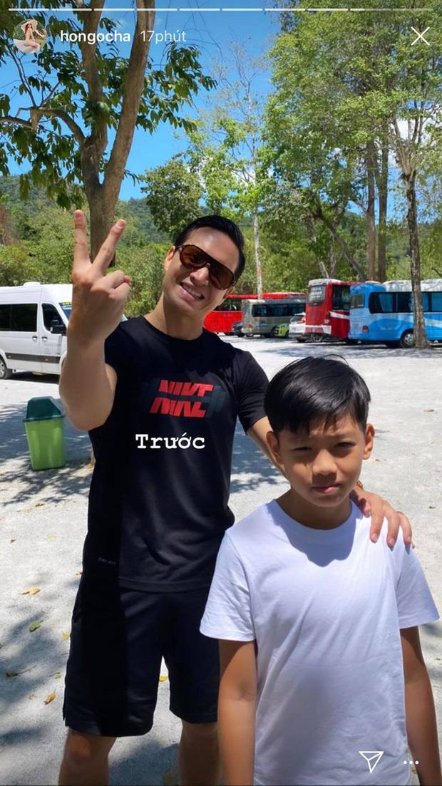 Hà Hồ vác bụng bầu 5 tháng đi leo núi cùng bạn trai Kim Lý