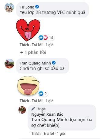 Trên trang cá nhân, nghệ sĩ Xuân Bắc đăng khoảnh khắc vui vẻ bên bộ đôi NSND Công Lý - Tự Long, cả 3 đều diện trang phục học sinh khiến fan thích thú.