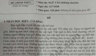 Đáp án đề thi môn văn vào lớp 10 của tỉnh Bạc Liêu năm 2020