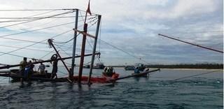 Quảng Nam ghi nhận một tàu câu mực bị tông chìm trên biển