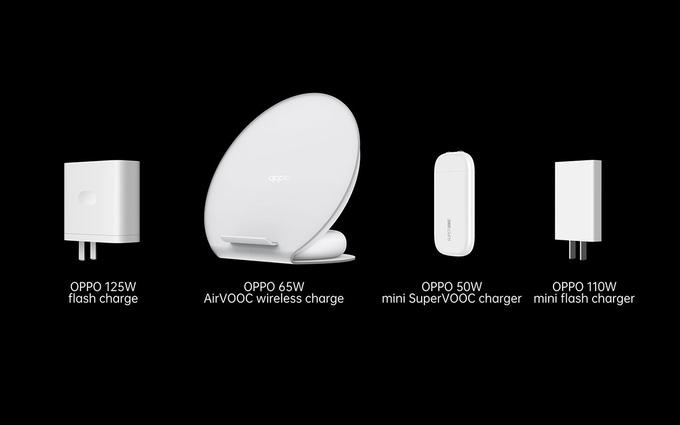 Bốn bộ sạc mới ra mắt của Oppo đều có công suất cao.