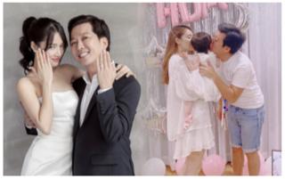 Nhã Phương 'đốn tim' fans khi tung loạt ảnh từ yêu đến cưới Trường Giang