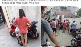 Thanh niên đi SH đến nhà bạn gái rồi quỳ gối trước cổng khiến dân tình xôn xao