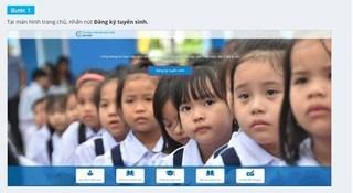 Phụ huynh Hà Nội được thử nghiệm tuyển sinh trực tuyến