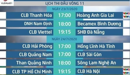 Vòng 11 V.League