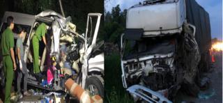Nguyên nhân ban đầu vụ xe khách đấu đầu xe tải, 8 người tử vong