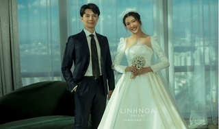 Á hậu Thúy Vân tung ảnh cưới cực ngọt tại tòa nhà cao nhất Việt Nam