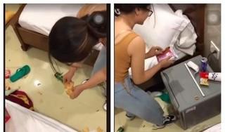 Cô gái xả rác khắp phòng khách sạn ở Vũng Tàu lên tiếng xin lỗi