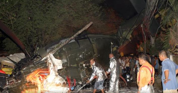 Rơi trực thăng quân sự ở Philippines khiến 2 người tử vong và 2 người mất tích