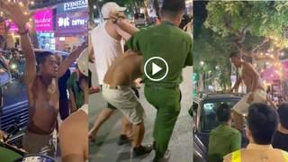 Tài xế say rượu, cởi trần gây tai nạn còn chống đối CSGT