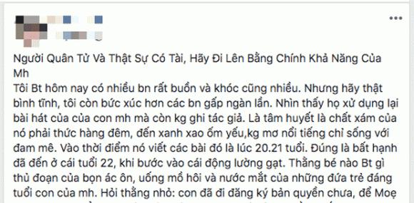 Mẹ Jack bức xúc vì ca khúc của con trai bị sử dụng 'chùa', dân mạng đồng loạt 'réo gọi' K-ICM