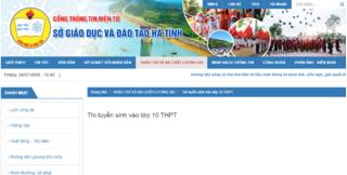 Tra cứu điểm thi lớp 10 tỉnh Hà Tĩnh 2020 ở đâu - Hướng dẫn tra cứu nhanh nhất