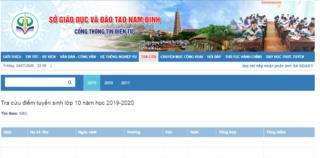 Tra cứu điểm thi vào lớp 10 THPT tỉnh Nam Định 2020 ở đâu nhanh nhất