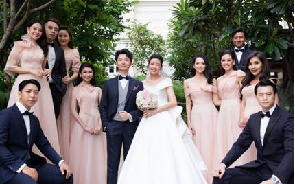 Dàn sao 'khủng' dự lễ cưới Á hậu Thúy Vân và chồng doanh nhân