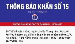 Thông báo khẩn tìm người đi đám cưới cùng bệnh nhân 416 ở Đà Nẵng