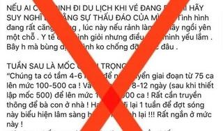 Bộ Y tế cảnh báo thông tin sai sự thật về dịch Covid-19 lan truyền trên mạng