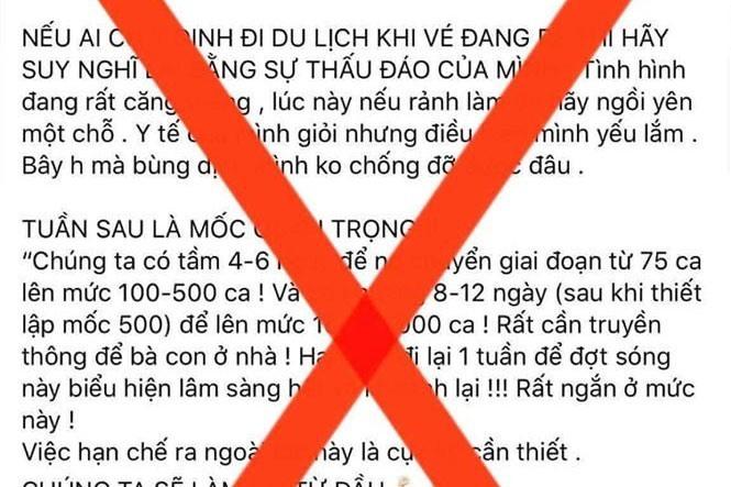 Bộ Y tế cảnh báo thông tin sai sự thật về dịch Covid-19
