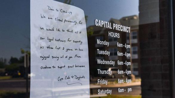 Đại dịch COVID-19: Đã làm 26.160 nhà hàng tại Mỹ phải đóng cửa. ảnh 1