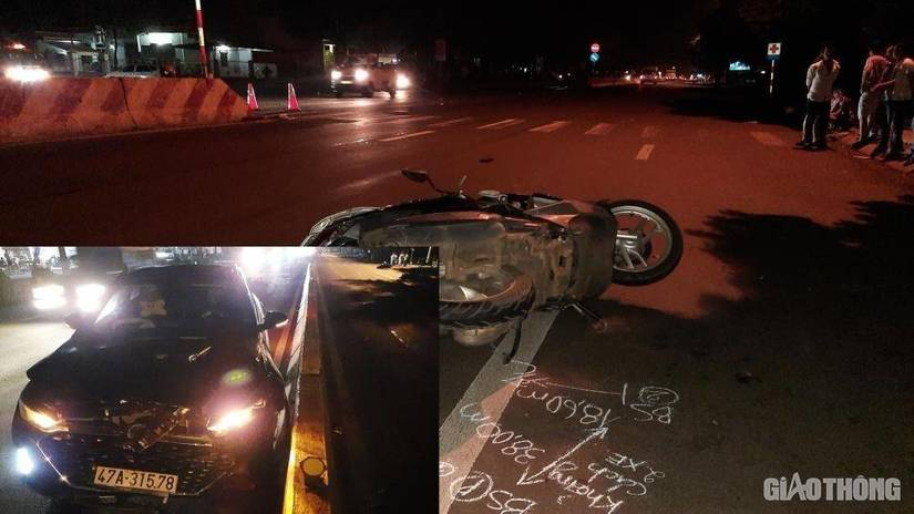 Ô tô chạy tốc độ cao tông vào xe máy khiến 2 người tử vong