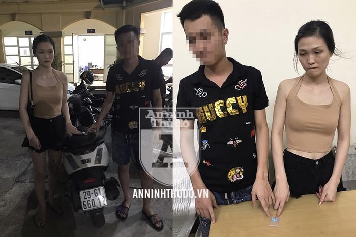 'Hot girl' tự rút gói ma túy từ áo lót ra giao nộp công an