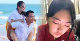 Con gái Quyền Linh khóc sưng mắt khi viết thư mừng sinh nhật ba