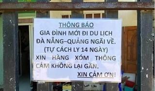 Gia đình lên tiếng về việc dán biển thông báo cách ly khi từ Đà Nẵng về