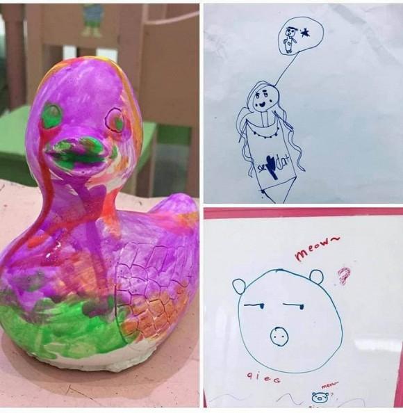 Thủy Tiên khiến dân mạng 'cười ra nước mắt' khi khoe tranh con gái vẽ