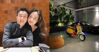 Cường Đô La mua xe máy 'xịn xò' để tặng vợ bầu