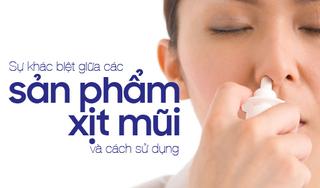 Sự khác biệt giữa các sản phẩm xịt mũi và cách sử dụng