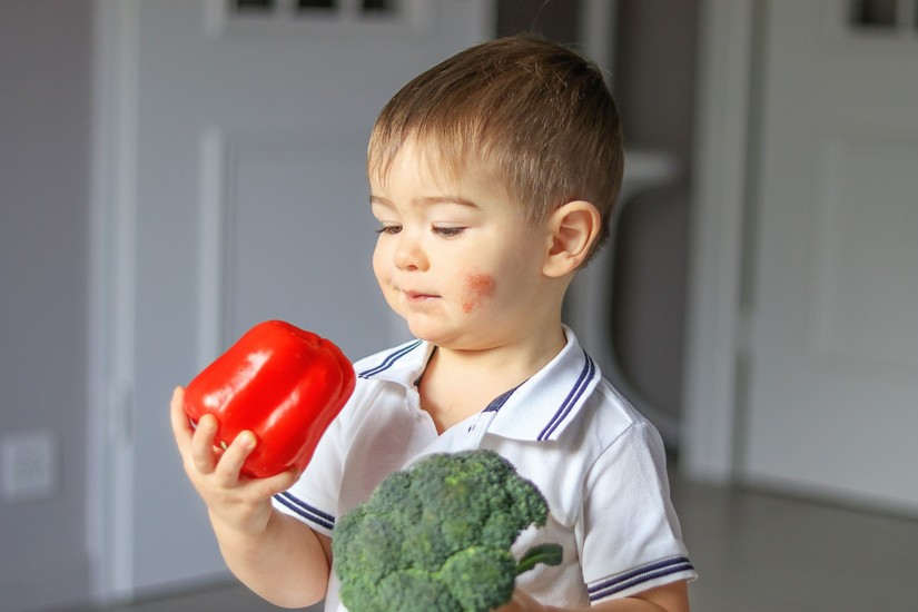 con không chịu ăn rau