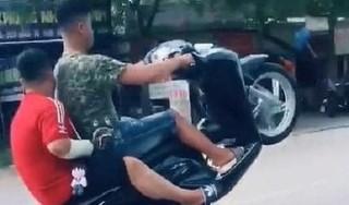 Khoe clip 'bốc đầu' xe SH trên mạng, thanh niên bị phạt nặng