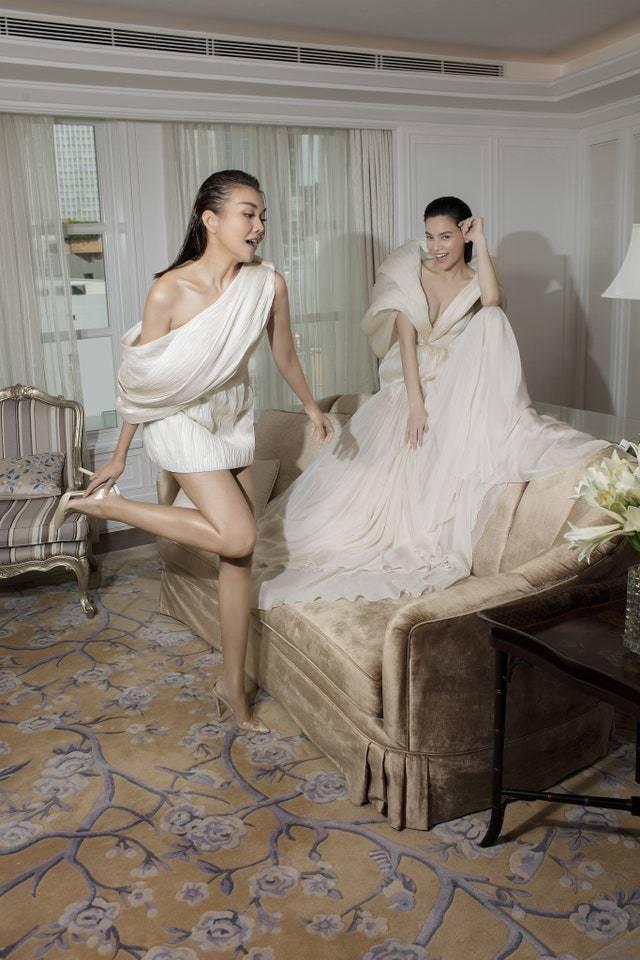 Hà Hồ hội ngộ trong sinh nhật Thanh Hằng, nhan sắc bà bầu không phải dạng vừa