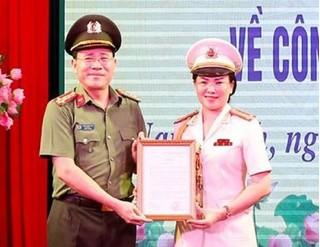 Nam Định có tân nữ Phó giám đốc Công an tỉnh
