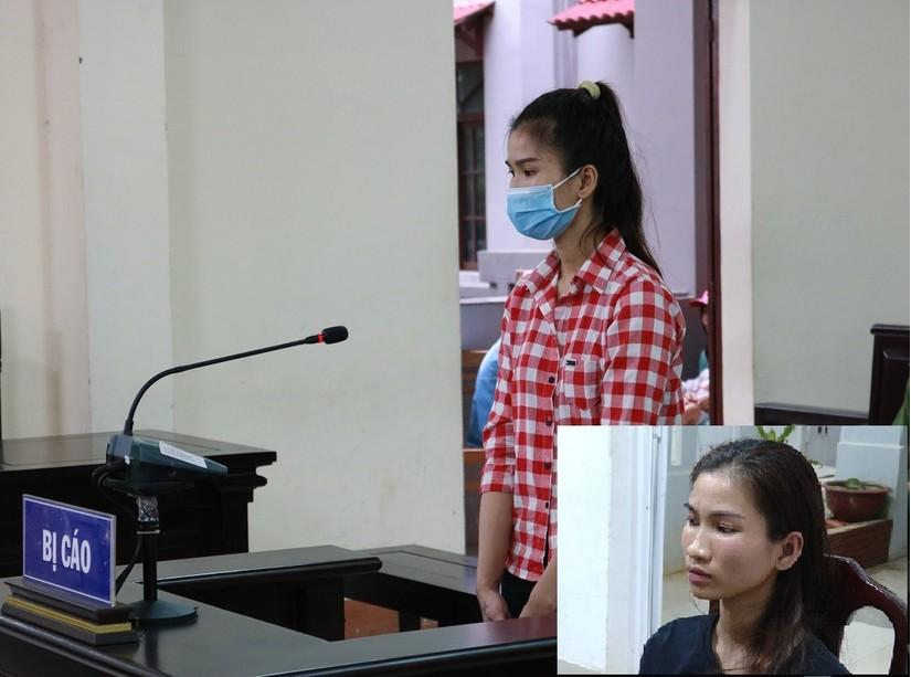 Bị cáo Phượng tại phiên tòa